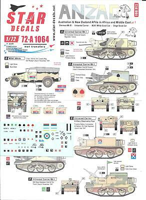 Star Decals 1/72 ANZAC AFV In Africa And Middle East Part 1 • 10.50£