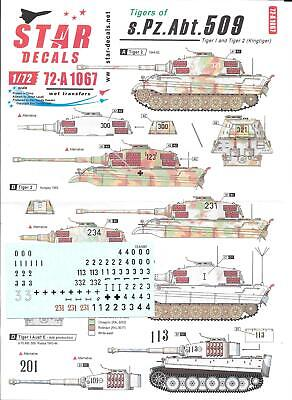 Star Decals 1/72 Tigers Of S.Pz.Abt.509 • 10.50£