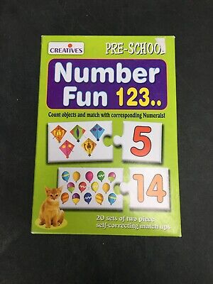 Number Fun Count To 20 Matching Puzzle Game Pre School Counting • 0.99£