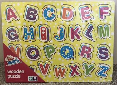 Play&Learn Wooden Alphabet Puzzle BNWT • 3.99£