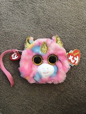 New With Tags The Ty Gear Fantasia Unicorn Coin Hand Purse • 4.50£