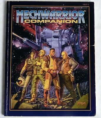 MechWarrior: Companion. 2nd Edition Rules Expansion. FASA 1995. VG+ • 15£