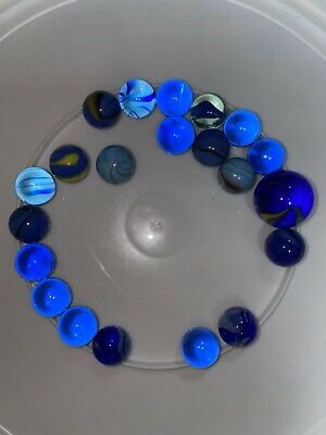 Blue Mixed Vintage Marbles • 5.99£