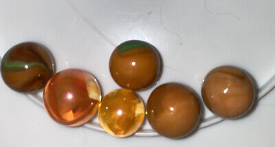 Marbles Glass 16mm Glass Orange • 2.50£