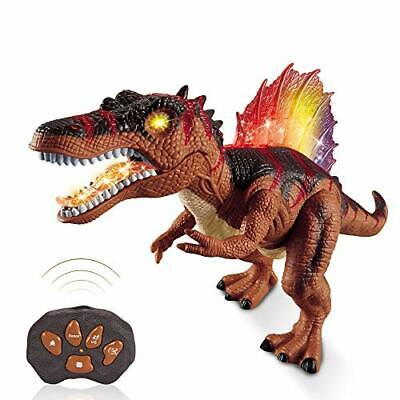 Dinosaur Toy Remote Control For Kids - LED Light Up Walking And Roaring • 32.60£
