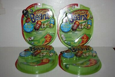 4 Packs Of Series 2 Mighty Beanz -  Spinmaster China  - 24 Beanz - New & Sealed • 12£