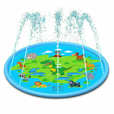 170cm Inflatable Play Mat Water Toys Kids Outdoor Party Sprinkler Splash Pad Toy • 8.39£