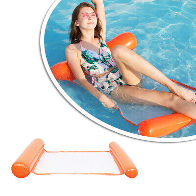 Summer Inflatable Floating Water Bed Float Pool Lounge Hammock Swimming Chair • 4.98£