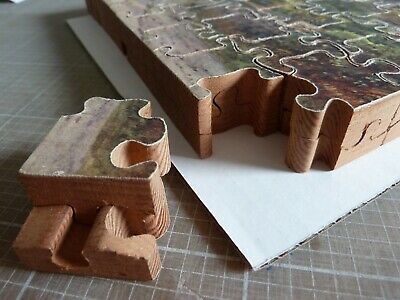 RARE VINTAGE 1930's CHAD VALLEY  DOUBLE DECKER  WOODEN JIGSAW PUZZLE • 45£