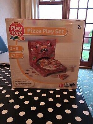 New Wooden Pizza Play Set 27 Piece • 3.50£