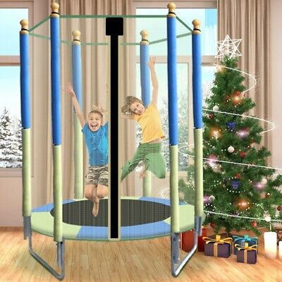 New 5FT Kids Trampoline With Enclosure Net Jumping Mat And Spring Cover Padding • 79.98£