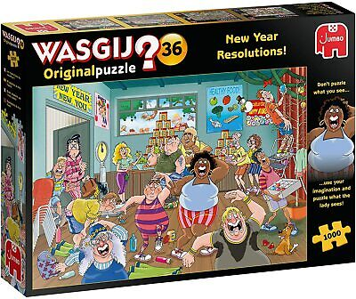 Wasgij Original 36 New Year Resolutions! Jigsaw Puzzle (1000 Pieces) • 14.79£