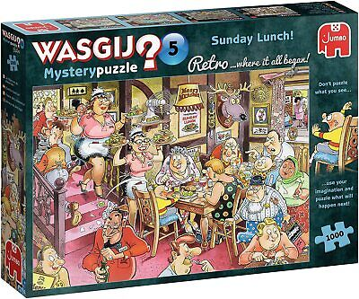 Wasgij Retro Mystery 5 Sunday Lunch! Jigsaw Puzzle (1000 Pieces) • 14.69£