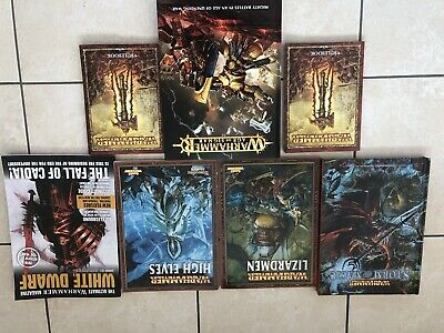 Job Lot Games Workshop Warhammer Books Age Of Sigmar Storm Of Magic Lizardmen • 80£