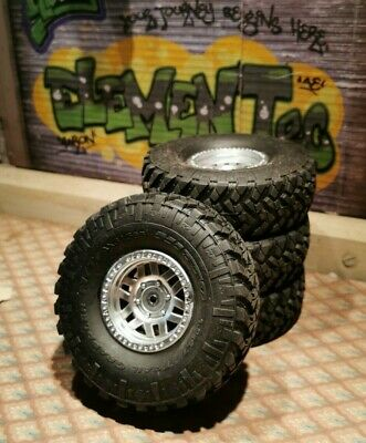 Four Rock Crawler Wheels With Tyres. Axial Nitto Trail Grapplers 1:10 Scale. • 5£