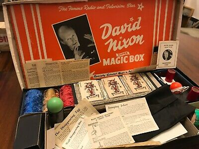 Rare David Nixon Magic Set Vintage 1950s With Instructions  • 39.99£