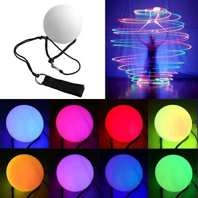 1 Pair Multicolor Glow POI LED Thrown Balls Light For Belly Dance Hand Prop • 8.09£