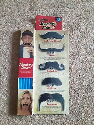 Novelty Moustache Straws  • 0.99£