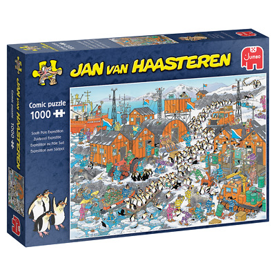 Jumbo Jan Van Haasteren JVH South Pole Expedition Jigsaw Puzzle 1000 Pieces • 14.75£