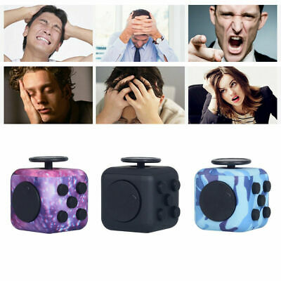 Fidget Cube Spinner Toy Children Desk Adult Stress Relief Cubes ADHD UK Camo • 5.15£