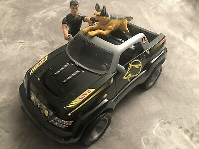 Vintage Action Man 4x4 Jeep With Figure And Attack Dog That Pounces - Retro Toy • 42.50£