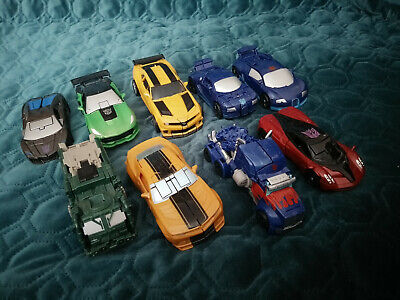 Transformers Set Of Nine Cars. Near Mint Condition Displayed Only. • 34£