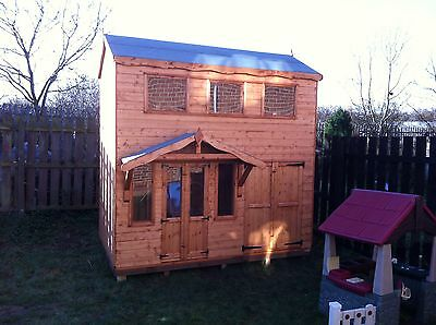 Double Storey Playhouse / Kids Wendy House Childrens Heavy Duty  • 1,490£