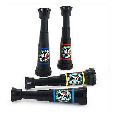 Pirate Party Telescopes Amscan Party Favour (Pack Of 4) Spyglass Monocular • 4.50£