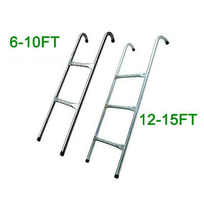 8 10 12 13 14 15 Ft Trampoline Replacement 2 3 Steps Ladder Outdoor Sport • 19.99£