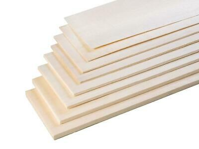 Balsa Wood Sheet 457mm Long X 75mm Wide Select Thickness Pk Of 2, 4 Or 6 • 9.50£