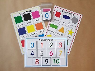 Colour/Shape/Number Matching Games - Toddlers/EYFS/SEN/Early Learning • 3.50£