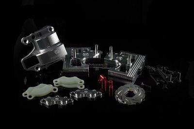 FID Racing Alloy Center Diff Mounts & Adjustable Calipers For Losi DBXL - Silver • 134.49£
