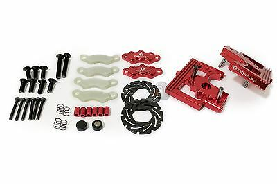 FID Racing Alloy Center Diff Mounts & Adjustable Calipers For Losi DBXL - Red • 69.99£
