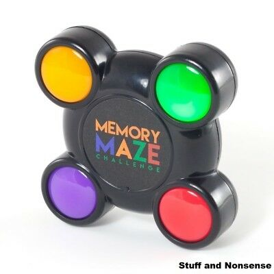 Memory Maze Pocket Light And Sound Sequence Remember Challenge Game Puzzle Toy • 5.45£