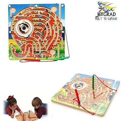 Universe Of Imagination Wooden Magnetic Maze Puzzle, Kids Toy Wood Activity UK • 7.99£