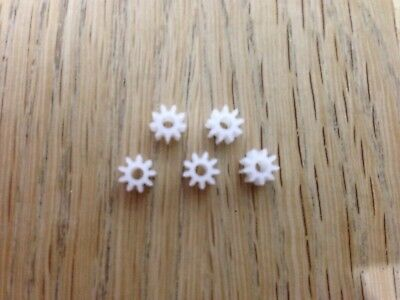 Scalextric Spares - 9 Tooth Pinion - Spur Gears - Slot Car Spares X 5 • 1.50£