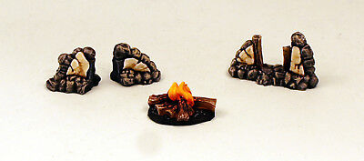 28mm Resin Stone Walls And Campfire-Terrain-Scenery-UNPAINTED-Alternative Armies • 9£