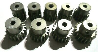 32P Pitch 3mm Pinion Gears 9t Tooth To 24t Fits Brushless Motor Crawler Traxxas • 4.39£