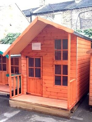 Children's Wooden Playhouse - 2 Storey Fantasia - Fully T&G Outdoor Wendy House  • 580£