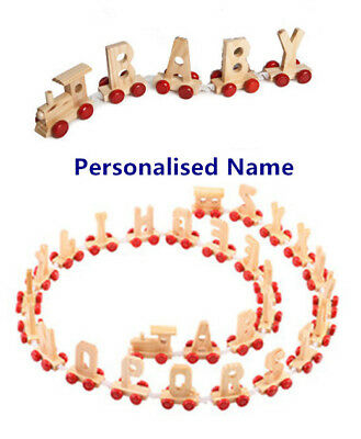 Personalised Letter Name Wooden Train Birthday New Year Christmas Gift Toy  • 9.99£