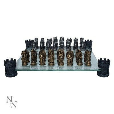 High Quality Kingdom Of The Dragon Chess Set Fantasy Gift Board Game Gothic  • 59.99£