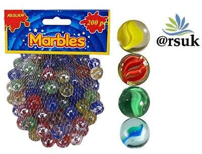 COLOUR MARBLES Vintage Toys Games AQUARIUM AND DECORATIVE PURPOSE 200 PCS (1 Kg) • 6.70£