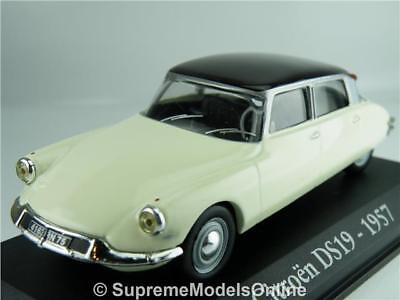 Citroen Ds19 1957 Car Model White 1/43rd Size Classic 50's French Type Y065j^*^ • 17.99£