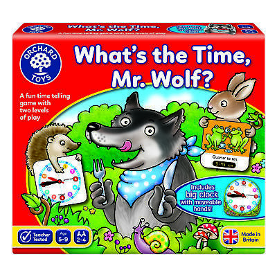 Orchard Toys What's The Time, Mr Wolf • 10.44£