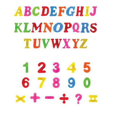 Magnetic Letters Alphabet & Numbers Fridge Magnets Toys Kids Learning Magnets • 4.19£