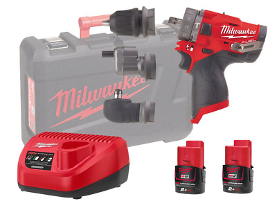 Milwaukee 12v Fuel Combi / Hex / Offset / Right Angle - M12fpdxkit - 2.0ah Pack • 240£