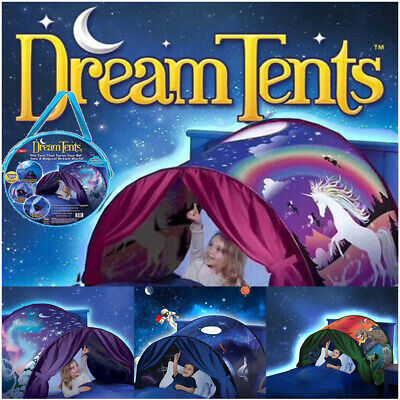 UK Kids Dream Tent Pop-up Foldable Bed Home Indoor Playhouse Birthday Xmas Gift • 15.99£