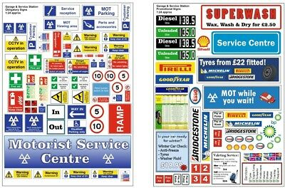 BECC Garage And Service Signage Vinyl Decals - Choice Of Scale • 6.99£