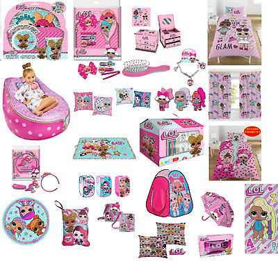 Children's Lol Surprise Pink Accessories Activity Dinner Party Gift Idea Bedding • 12.99£