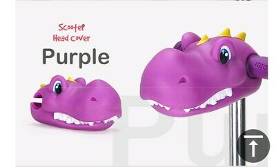 Purple Dinosaur Scooter Toy Head Cover Attachment Children Funny Game Kids Gift • 7.99£
